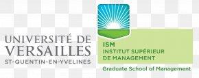 Ism - Versailles Saint-Quentin-en-Yvelines University Institut Supérieur De Management Master University Institute Of Technology Of Mantes En Yvelines PNG