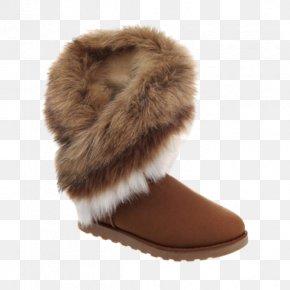 Faux Fur - Fashion Boot Snow Boot Fake Fur Zipper PNG