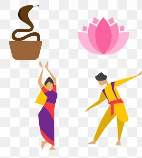 India Style Lotus Dancers Small Icon Material - India Bollywood Dance Icon PNG
