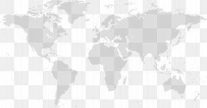 World Map - Black And White Product Pattern PNG