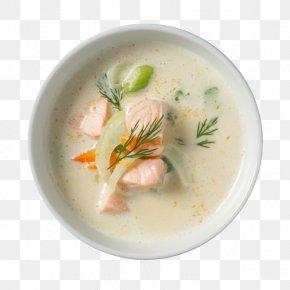 Hot Pot - Clam Chowder Leek Soup Potage Smoked Salmon PNG