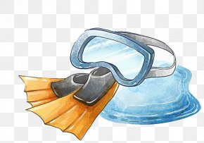 Swimming Equipment - Goggles Swimming Illustration PNG