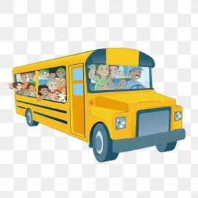 School Bus - School Bus Euclidean Vector Clip Art PNG
