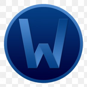 Word Circle Colour - Electric Blue Symbol Trademark PNG