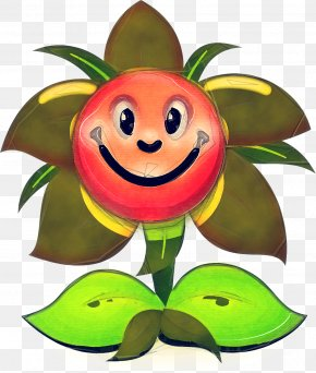 Flowering Plant Fictional Character - Green Leaf Plant Cartoon Fruit PNG