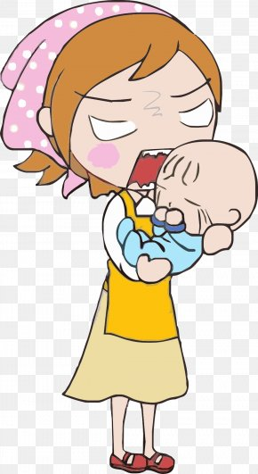Face The Baby Has Been Crying Mother - Mother Crying Infant PNG