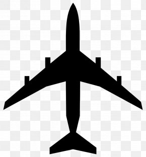 Silhouete - Airplane Silhouette Clip Art PNG