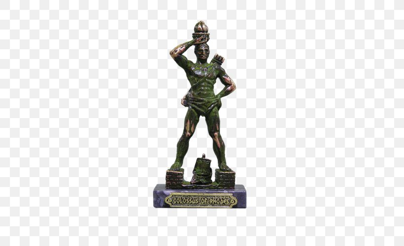 Colossus Of Rhodes Statue, PNG, 500x500px, Colossus Of Rhodes, Ancient History, Figurine, Lighthouse, Lighthouse Of Alexandria Download Free