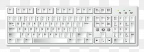 Vector Picture Material Flat Computer Keyboard - Computer Keyboard Laptop PNG