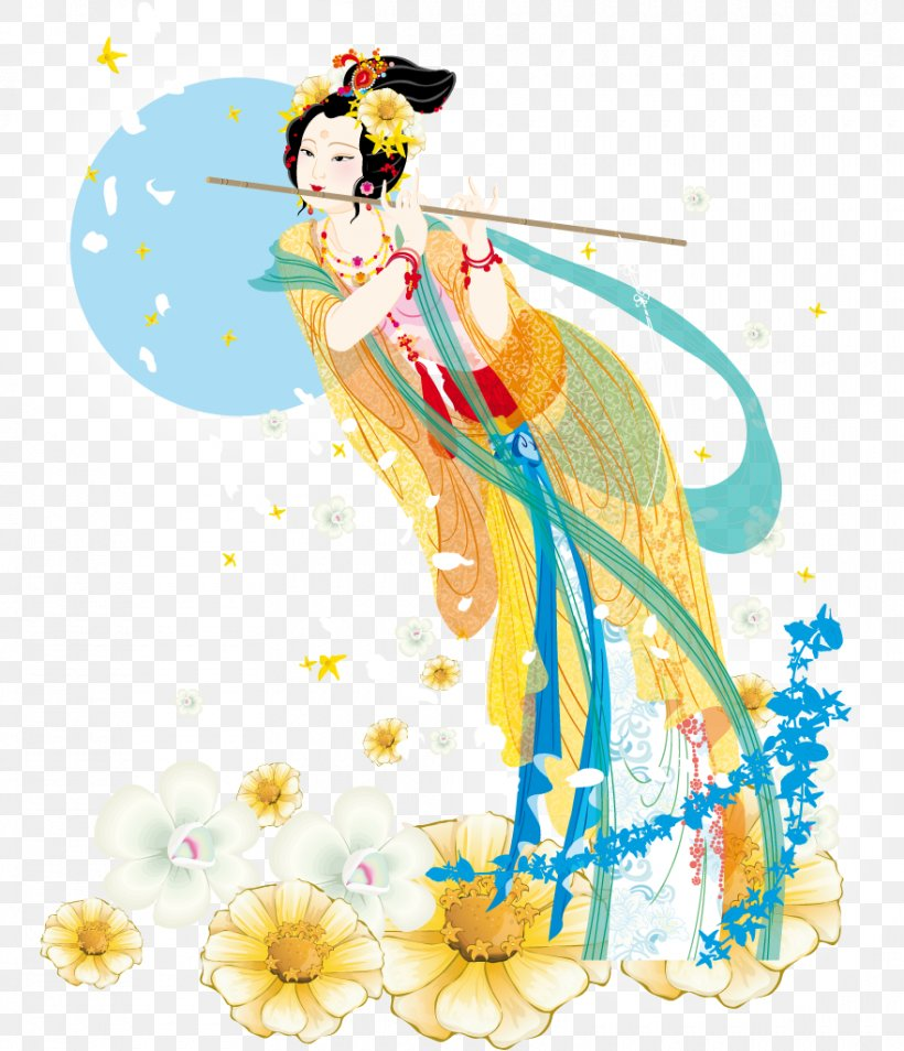Mooncake Mid-Autumn Festival Chang'e Greeting, PNG, 880x1024px, Mooncake, Art, Chang E, Costume Design, Dance Download Free