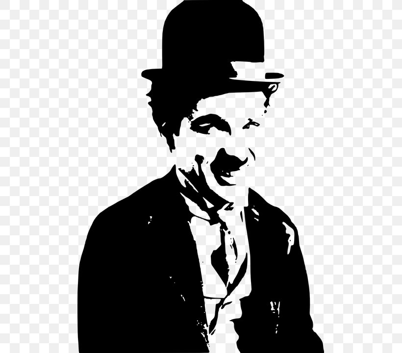 The Tramp Quotation Smile Film Director Comedian, PNG, 503x720px, The Tramp, Actor, Art, Black And White, Charlie Chaplin Download Free