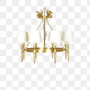 4 8 Full Copper Chandeliers Swan - Chandelier Brass Copper PNG