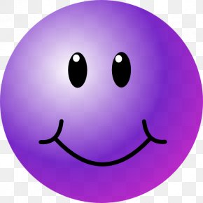 Animated Smiley Faces - Smiley Emoticon Wink Purple Clip Art PNG