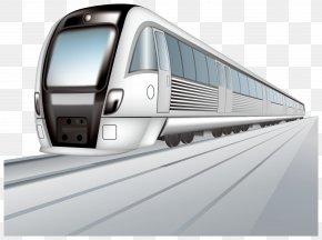Train Silver Vector - Train Rail Transport High-speed Rail Clip Art PNG