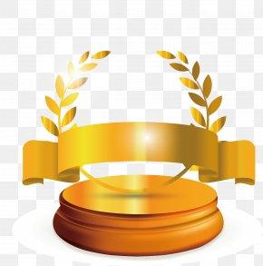 Barley Yellow Ribbon Trophy - Trademark Patent Yellow Ribbon Copyright No PNG