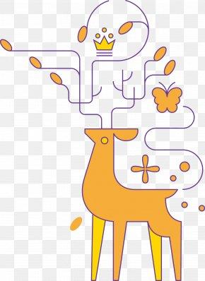 Deer - Red Deer Antelope Clip Art PNG