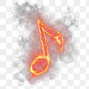 Summer Bbq Flower Fire Flames - Musical Note Clip Art Psd PNG