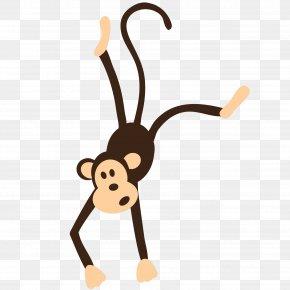 Monkey - Monkey Hanger Clip Art PNG