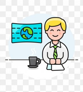 Computer Monitor Accessory Output Device - Newscaster Cartoon PNG