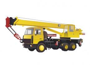 Crane Truck Cliparts - Truck Mobile Crane Clip Art PNG