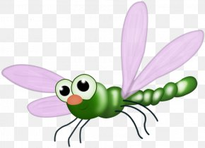 Cartoon Dragonfly - Butterfly Cartoon Clip Art PNG