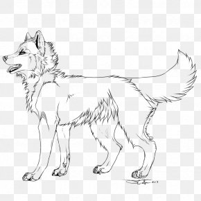 Akita Dog - Dog Breed Line Art Cavalier King Charles Spaniel Puppy PNG