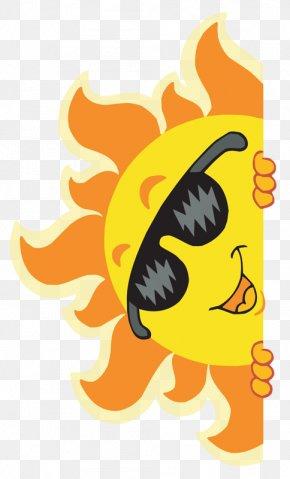 Hand-painted Cartoon Sun - Sunglasses Stock Photography Stock Illustration Clip Art PNG