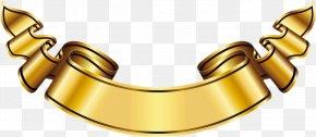Large Gold Banner Clipart - Logo Banner Gold Label PNG