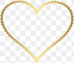 Gold Heart Border Frame Transparent Clip Art - Heart Picture Frame Clip Art PNG