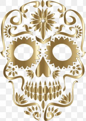Sugar Skulls - Calavera Skull Art Day Of The Dead Clip Art PNG