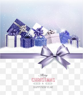 Beautiful Purple Gift Box Christmas Card Vector - Christmas Gift Christmas Gift Santa Claus PNG
