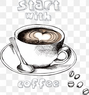 Vector Love Coffee - Irish Coffee Espresso Latte Cafe PNG