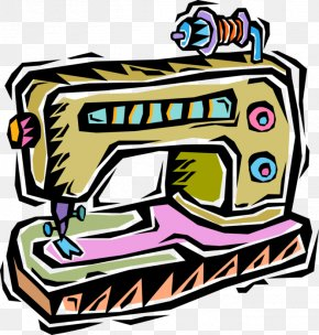 Clip Art Sewing Machine - Textile Clip Art Sewing Yarn Vector Graphics PNG