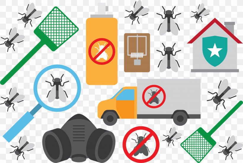 Mosquito Pest Control Clip Art, PNG, 3332x2243px, Mosquito, Communication, Exterminator, Flat Design, Insect Repellent Download Free