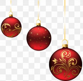 Christmas Red Balls Ornaments Picture - Christmas Ornament Christmas Decoration Clip Art PNG