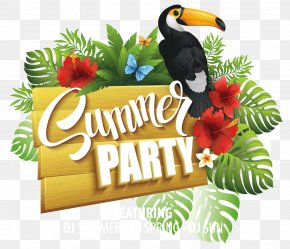 Summer Party - Party Flyer Summer Poster PNG
