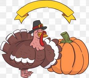 Thanksgiving Turkey Pumpkin - Turkey Thanksgiving Clip Art PNG