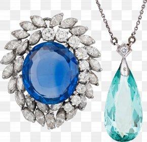 Sapphire Pendant - Sapphire Diamond Jewellery Necklace Pendant PNG
