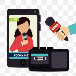 Mobile Phone Interview Program - Drawing Television Show PNG