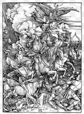 Medieval War Illustrator - Four Horsemen Of The Apocalypse Book Of Revelation Bible Revelation 6 PNG