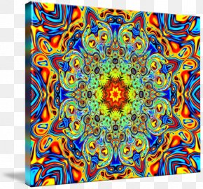Painting - Psychedelic Art Visual Arts Painting Kaleidoscope PNG