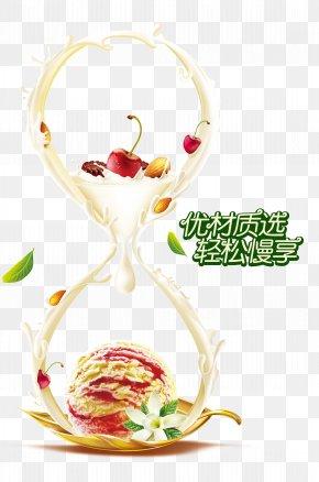 Cream Ice Cream Ad - Ice Cream Milk Juice PNG