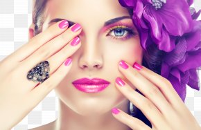 Nail Polish Finger - Nail Face Skin Beauty Purple PNG