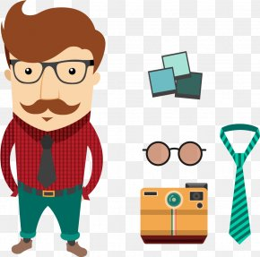 Fathers Day Clip Art Tie - Vector Graphics Clip Art Illustration Hipster PNG