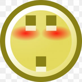 Blush - Smiley Emoticon Blushing Clip Art PNG