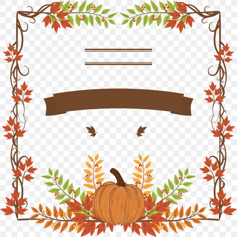 Thanksgiving Dinner Pumpkin Holiday Icon, PNG, 1895x1892px, Thanksgiving, Area, Border, Branch, Christmas Download Free
