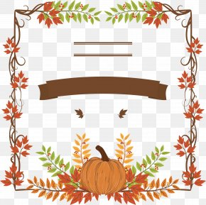 Thanksgiving Pumpkin Leaves - Thanksgiving Dinner Pumpkin Holiday Icon PNG