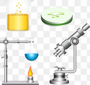 Vector Chemicals And Microscopes - Chemistry Laboratory Chemical Substance Science PNG