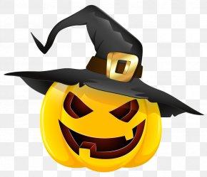 Halloween Evil Pumpkin With Witch Hat Clipart - Halloween Pumpkin Pie Jack-o'-lantern PNG
