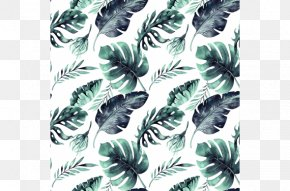Leaf - Leaf Swiss Cheese Plant Watercolor Painting Tropics Textile PNG